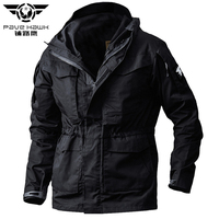 Winter Fleece liner And M65 Tactical Trench Men Coat Army Military Waterproof Coats Hoodie Windbreaker Outerwear Spring Clothes