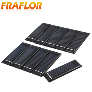 Image 4 - 20PCS/Lot Mini Small 0.5V 100mA Solar Cell Panel Solar Module Accessories For Science and Technology Toy DIY Study 53*18mm