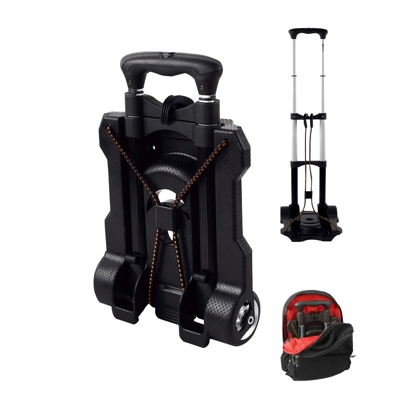 b4a1b0076477 US $31.95 25% OFF|Metal Folding Portable Travel Cart Adjustable Home  Luggage Carts Trolley Shipping Cart Fixed Travel Bags Accessories  Supplies-in ...