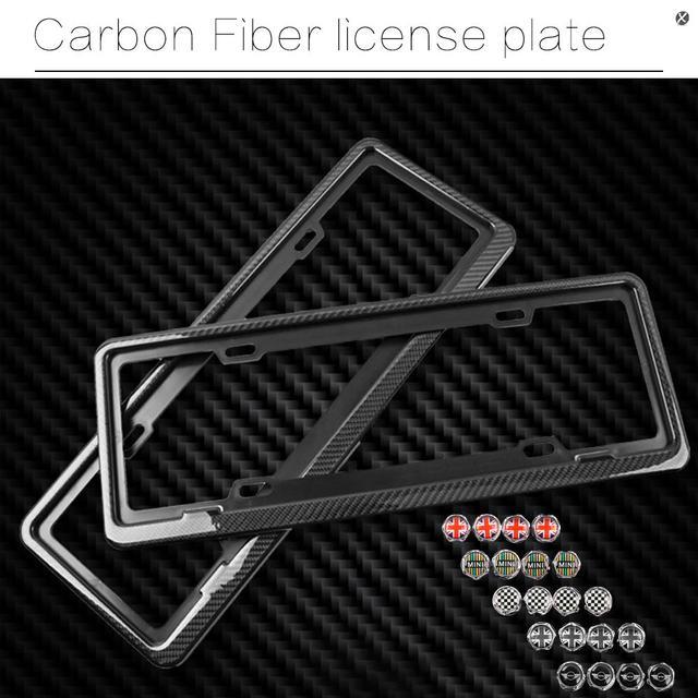 Carbon Fiber automotive license plate frame SGX regulatory license car license plate frame For MINI Cooper & Carbon Fiber automotive license plate frame SGX regulatory license ...