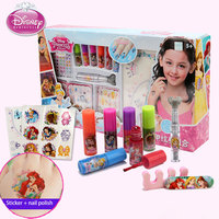 Disney princess kids makeup children's cosmetics Nail Polish Manicure Set Lead Free Finger Color Tattoo Painted Sticker Girl Toy