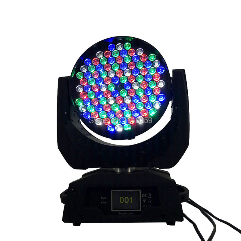 2 шт./лот мыть светодиодный перемещение головного света 108×3 Вт RGBW этапе Освещение диско DJ DMX Звук профессиональный свет этапа для события/сва…