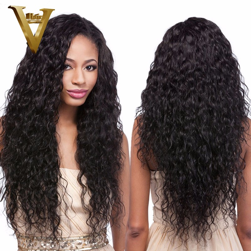 150 Density Glueless Full Lace Human Hair Wigs Remy Hair Brazilian Water Wave Lace Front Wigs