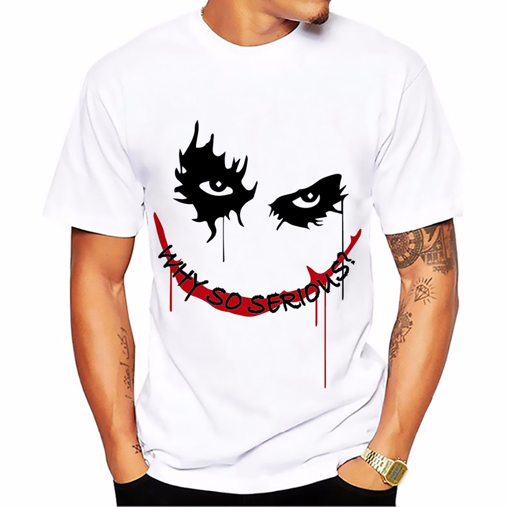 salute Heath Ledger Most classic Joker   t     shirt   men white Casual Breathable tee   shirt   homme dark Violence Aesthetics tshirts