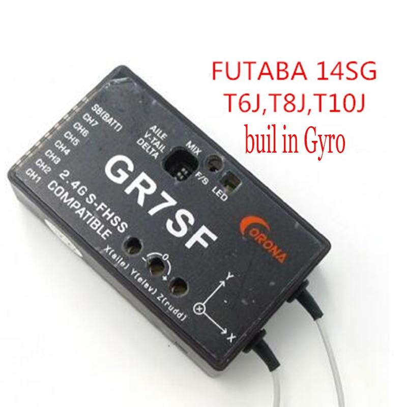 CORONA 2.4 7CH GR7SF S-FHSS receiver buil in Gyro Compatible with FUTABA T6J T8J 10J T14SG кухонный смеситель omoikiri tateyama s gr латунь гранит leningrad grey 4994176