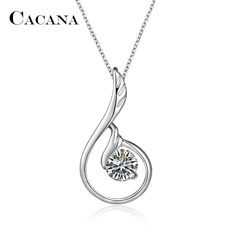 CACANA Pendant Necklaces For Women Trendy Lovely Swan
