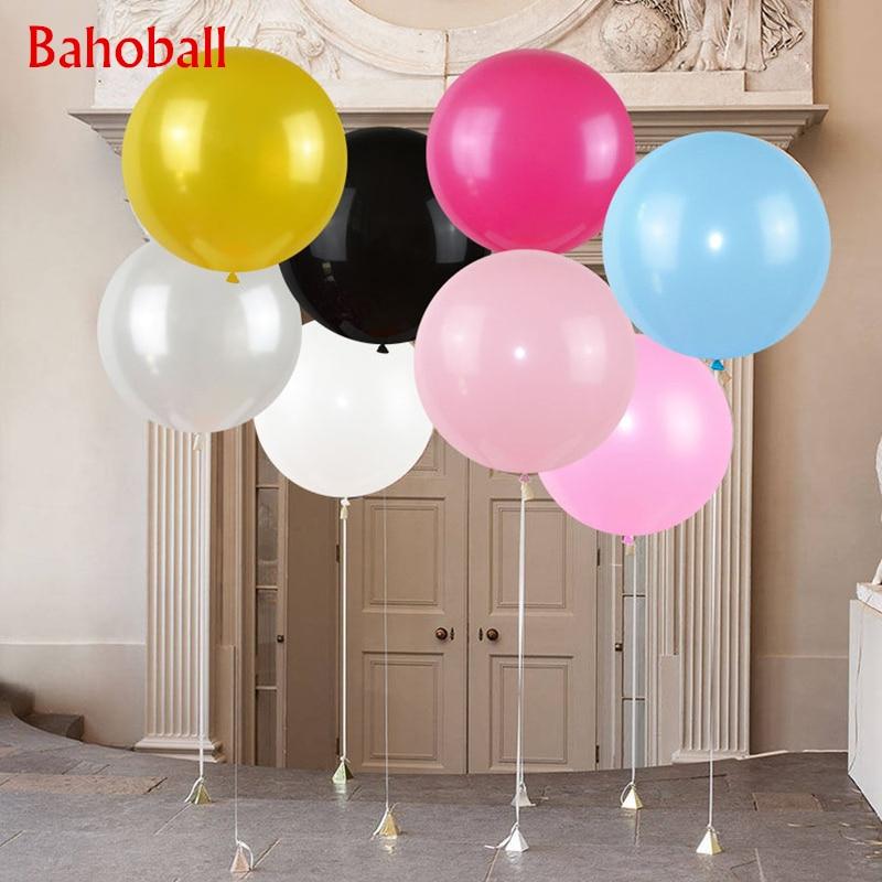 1 шт. овального воздушных шаров из латекса, 36 дюймов Свадебные украшения гелий большой гигантские надувные воздушные шары на день рождения в...
