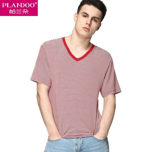 2017 Spring PLANDOO Comfortable Loose Men Undershirt 17 year old high school student present