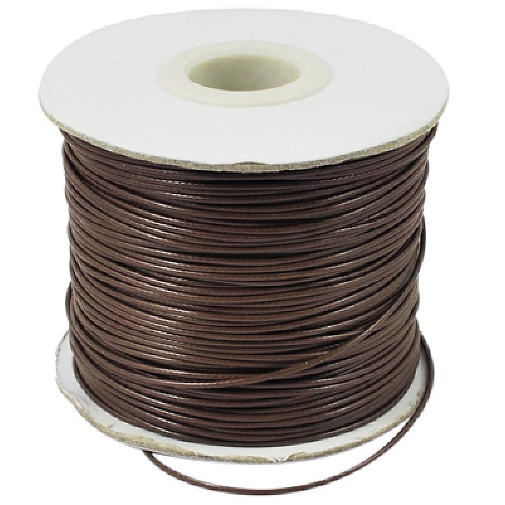 0.5mm 0.8mm Waxed Polyester Bead Cord about 185yards/roll