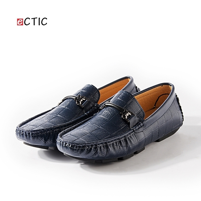 Swag Horsebit Loafers Male Urban Men Driving Shoes Luxury Brand Shoes  Summer Men Shoes Blue White