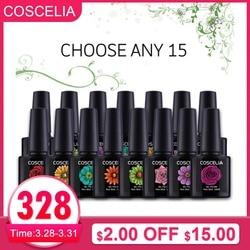 10ml 15pcs/Lot UV Gel Nail Polish Kit Nail Art Set Semi Permanent Varnish Polish UV Gel Gellack 80 Colors Gel For Nail