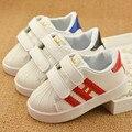 2016 nueva primavera otoño zapatos de los niños niñas zapatillas niños zapatos de bebé zapatos de los niños zapatos de deporte blanco luminoso