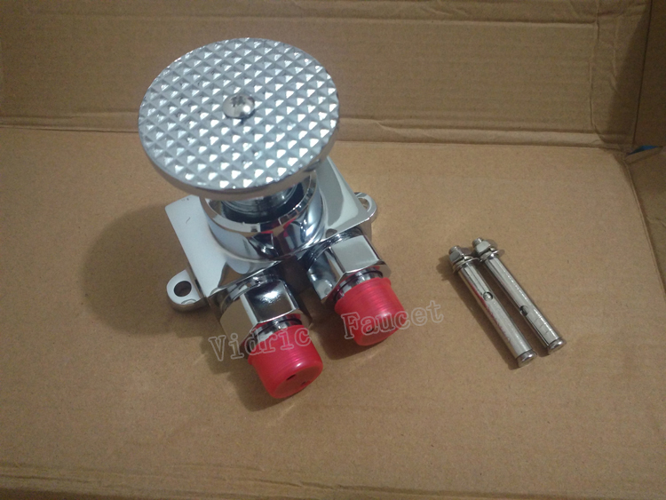 Toilet Pedal Tap Brass , Foot Tap Self-closing Laboratory Hospital Food Factory Washing Basin,single Cooling Copper Switch Valve