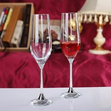 Lead free toasting wine glasses set clear crystal goblet 235ml champagne glass/flutes wedding drinking glasses love gifts