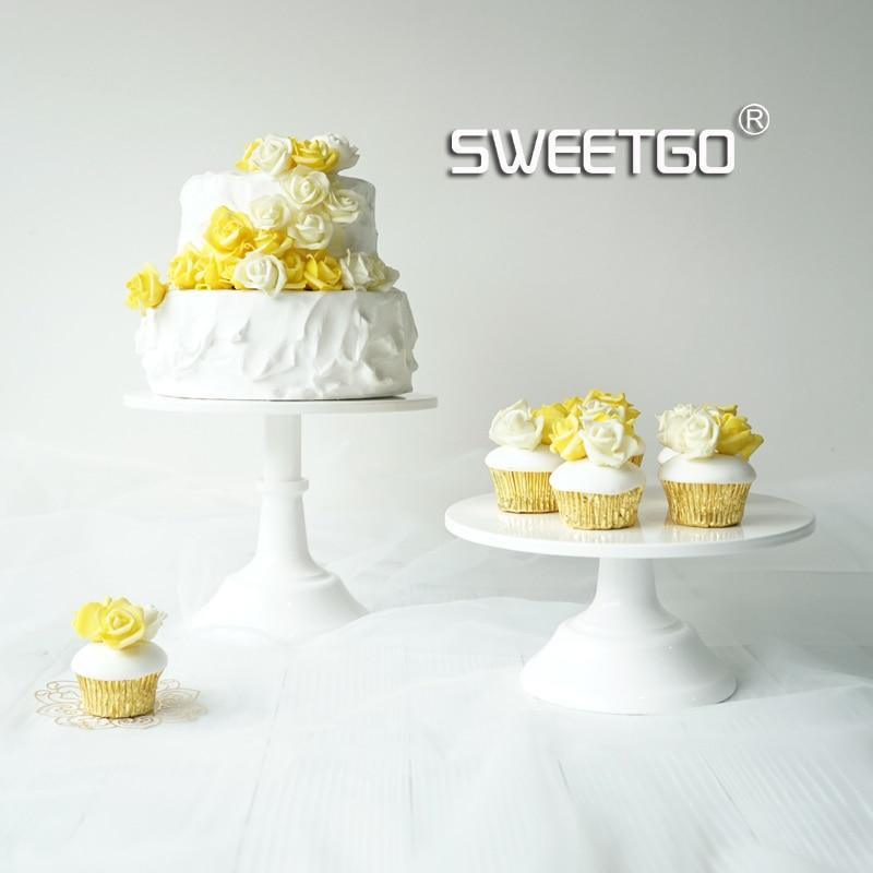 SWEETGO pastel torta 10 pulgadas torta de boda herramientas altura ajustable fondant cake display accesorio para bakeware partido