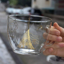 Эйфелева башня стеклянная кружка для чая кружка кофейная чашка