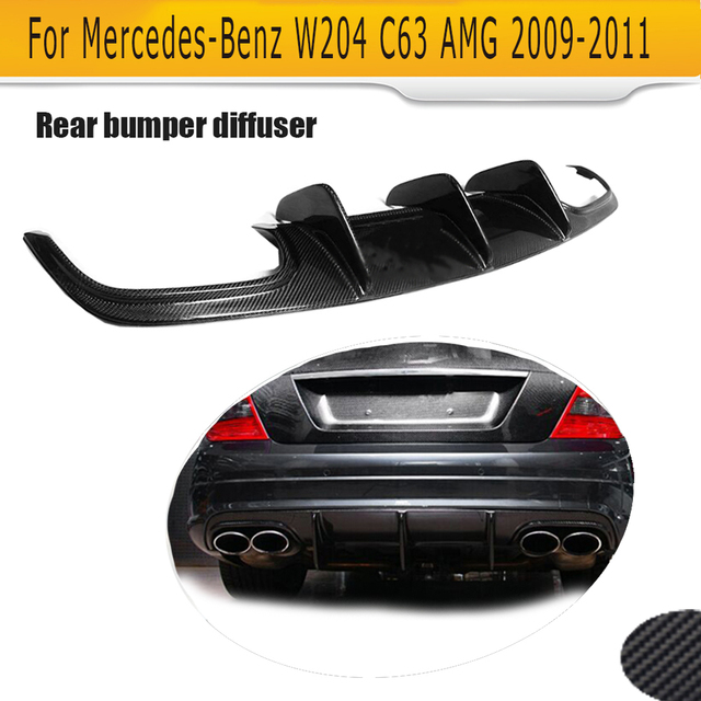 C Class Carbon Fiber rear lip spoiler Diffuser For for Mercedes Benz W204 C63 AMG 4 Door Only 09-14 A Style