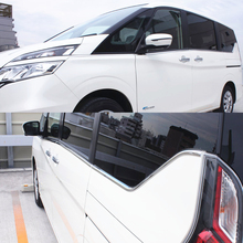 JY 8pcs SUS304 Stainless Steel Window Trim Lower Cover Car Styling Accessories For NISSAN SERENA C27 2016 on