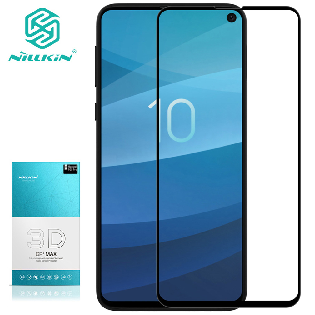 NILLKIN CP+MAX Screen Protector For Samsung S10 / S10 Plus/ S10 Lite 3D Safety Protective Tempered Glass for Samsung Galaxy S10+