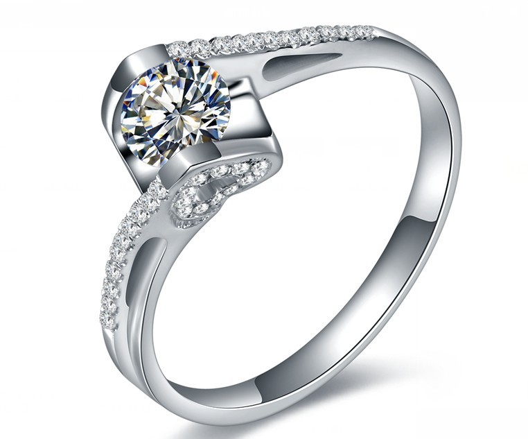 Royal Design Lovely 1CT Promise Angel Style Certified SONA ...
