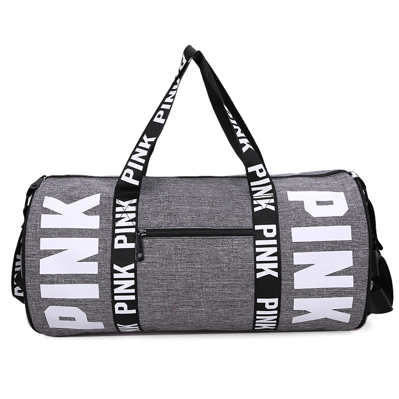 a969794c0899 2018 Girl pink Duffle Bag cheap Beach Shoulder Bag Large Capacity Gym bag  Overnight Weekend Outdoor Yoga Bag-in Gym Bags from Sports   Entertainment  on ...