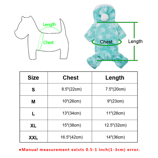 Cute Dog Clothes Jumpsuit Warm Winter Puppy Cat Coat Costume Pet Clothing Outfit For Small Medium Dogs Cats Chihuahua Yorkshire 5