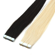 30inch DLME Skin Weft Extensions 40pcs 100G Silky Straight Brazilian Tape In Hair Extension On Tapes No Shedding Synthetic