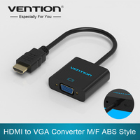 Convention HDMI vers VGA adaptateur audio numérique-analogique convertisseur Mâle à Femelle câble pour Xbox PS4 PC Portable TV box à projecteur