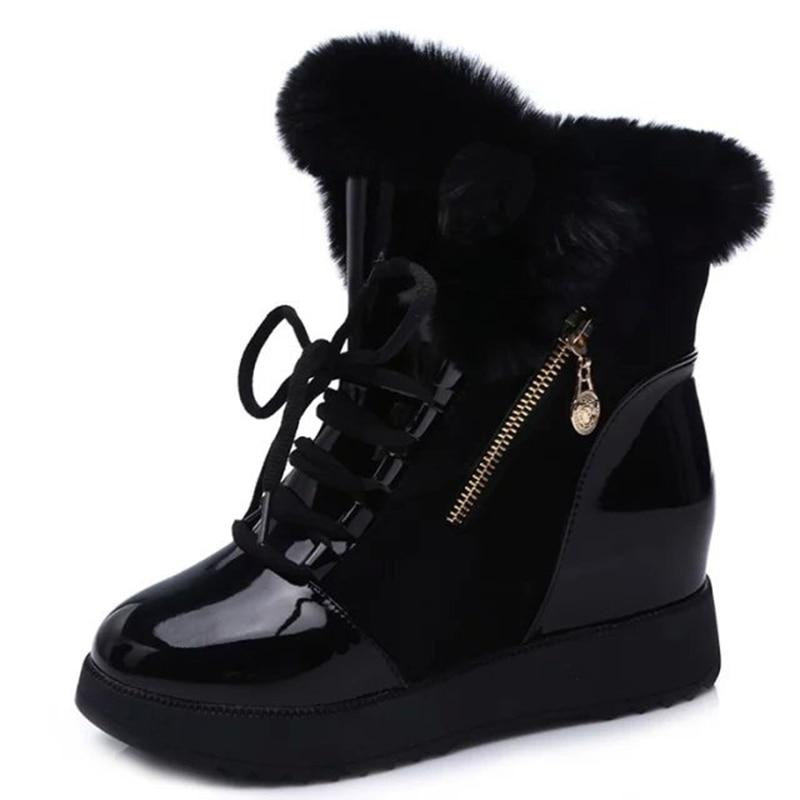 Botas Marea Unidos Mujeres Estados Nuevos Piel Algodón La Los black Y 2018 Las Cargadores Con White Invierno De Europa Nieve Aumentaron Terciopelo Zapatos 6qgwXfaYx