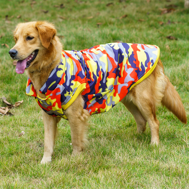 Winter Large Dog Clothes Coat Jacket Vest Corgi Golden Retriever