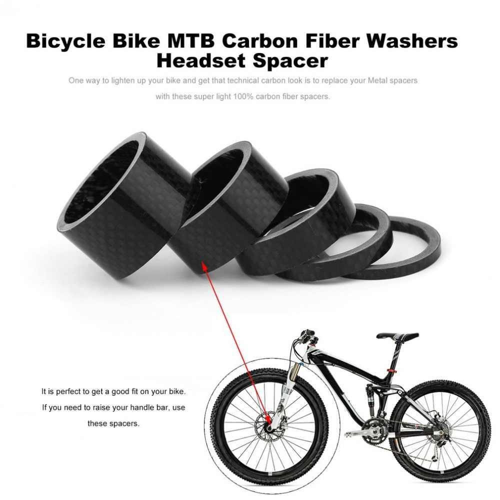 MTB bicicleta de montaña 5 10mm fibra de carbono horquilla delantera Bowl serie auriculares arandela bicicleta de carretera cabeza de anillo de respaldo más nuevo