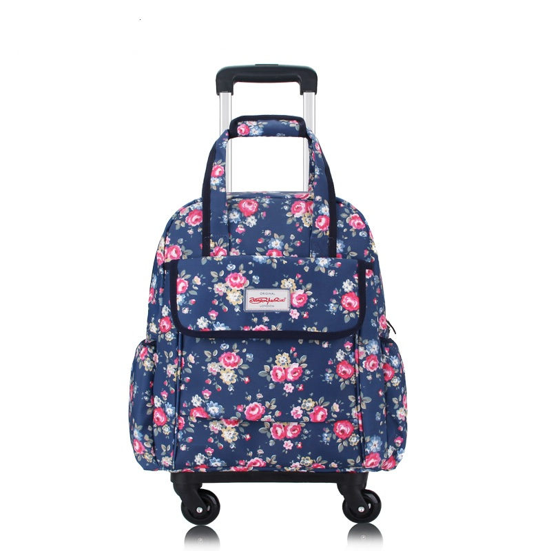 Women Travel Trolley Bags travel Backpack with wheel Rolling luggage trolley backpack waterproof Oxford Rolling Baggage SuitcaseWomen Travel Trolley Bags travel Backpack with wheel Rolling luggage trolley backpack waterproof Oxford Rolling Baggage Suitcase