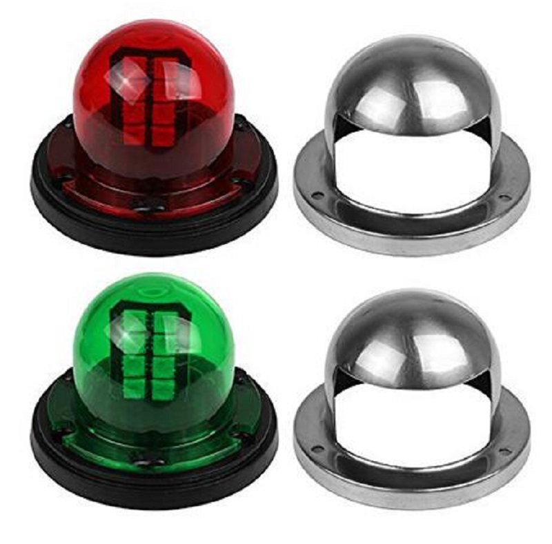 2 pcs 12V LED Red Green Sailing Signal Light for Marine Boat Yacht Stainless Steel Bow Navigation Light|Outdoor Tools| |  - title=