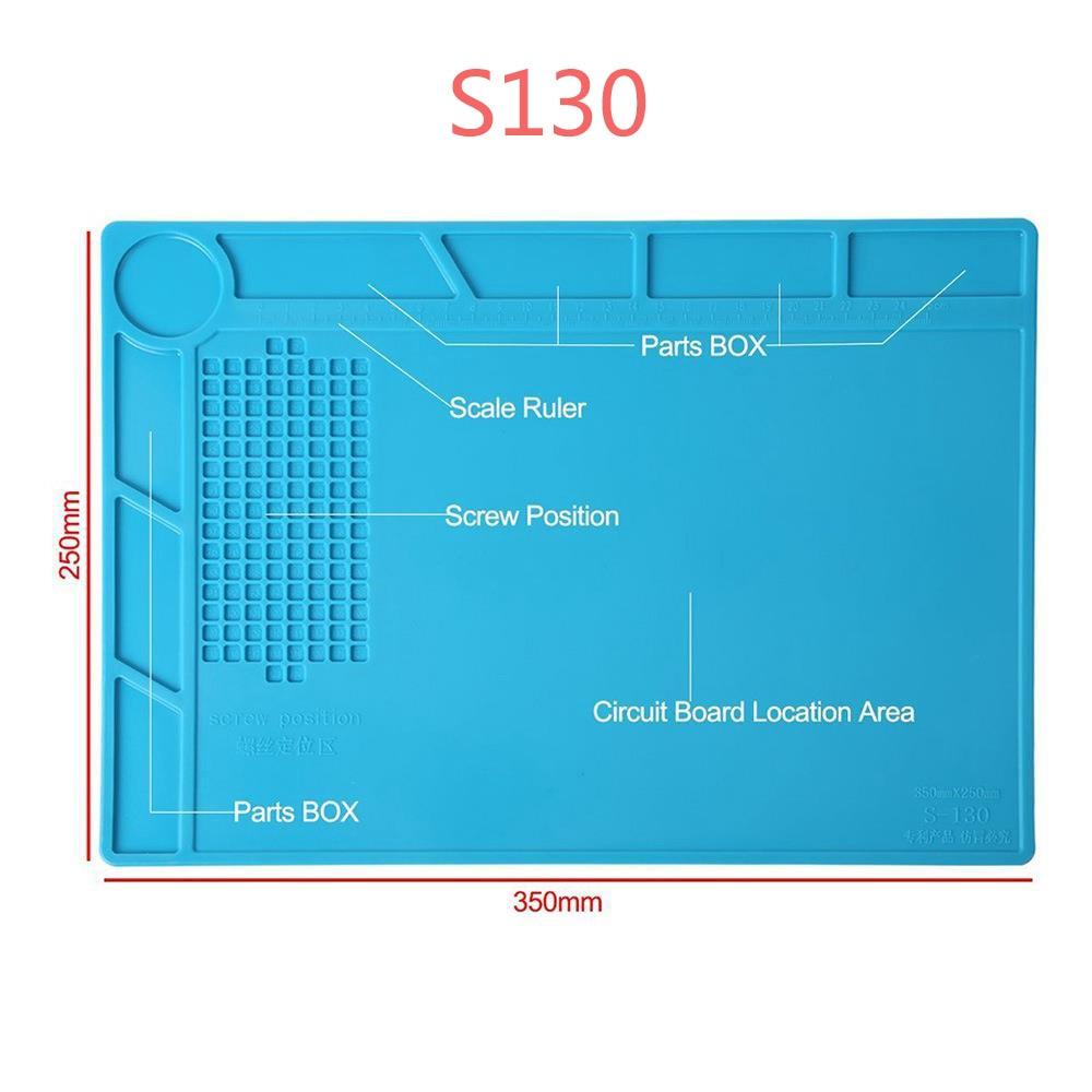 Купить с кэшбэком ESD Heat Insulation Working mat Soldering Station Iron Phone Computer Repair Mat Magnetic Heat-resistant BGA  Insulator Platform