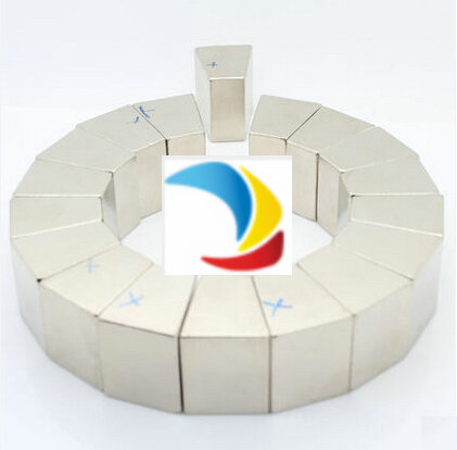 N42M NdFeB Arc Segment OD130xID75x20deg.x27 mm Moto magnet for generators wind turbine Neodymium Permanent Rotor Magnet wester arc 130
