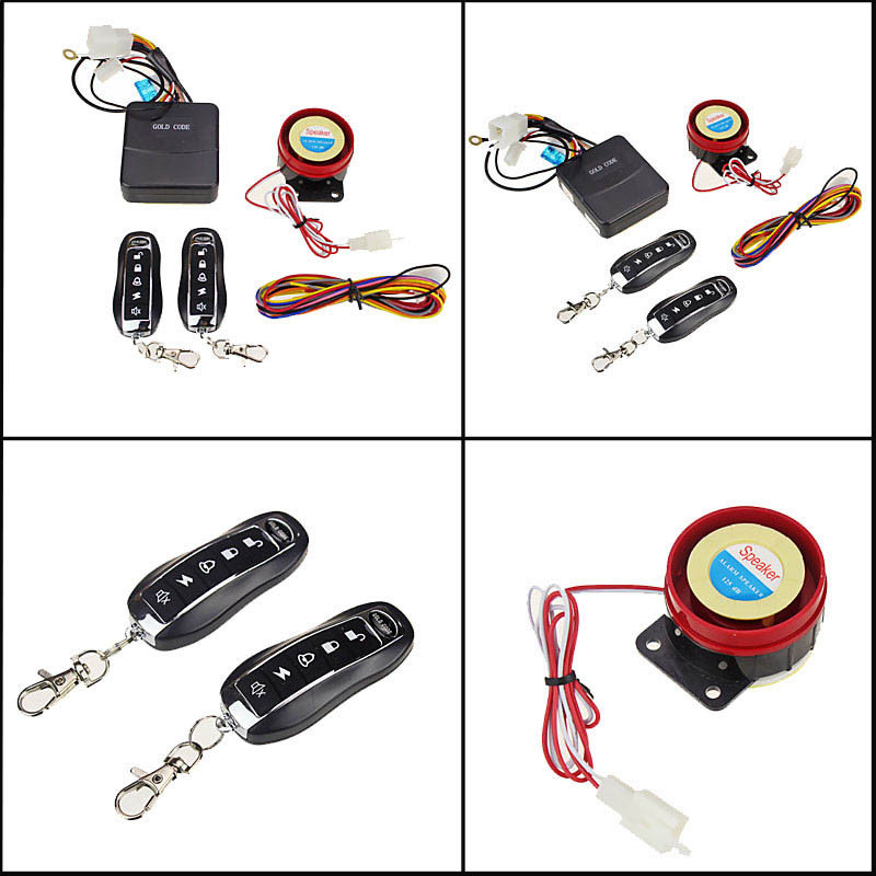 2 Remote Controls Racing Motorcycle Alarms Universal Scooter Engine Start Alarm Motorbike Sensor Anti-theft Security Systems