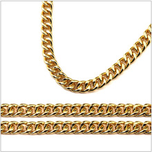 5pcs wholesale 75cm long necklace  2016 New Fashion Jewelry 18K Gold Plated Hip Hop Chain  Curb Cuban Link Necklace Men's Gifts