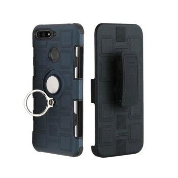 Y5 Y6 Y7 Y9 Prime 2018 Belt Clip Holster phone case for huawei y5 y6 y7 Pro y9 prime 2019 Ring Stand Shockproof Armor Case Cover