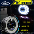 AKD Car Styling Angel Eye Fog Lamp for Ford Fusion LED DRL Fog Light Daytime Running Lamp High Low Beam Automobile Accessories
