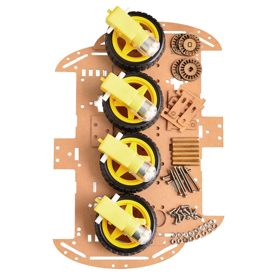 Free Shipping 4WD Smart Robot Car Chassis Kits With Speed Encoder New