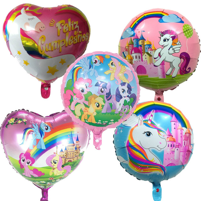 1pc 18 Inch Unicorn Cartoon Balloons Foil Balloon Party Supplies Decoration Kids Birthday Aluminum Name