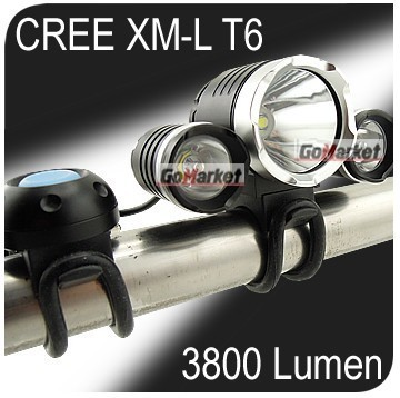 3x CREE XM-L T6 LED & 2x XPE R2 3800Lm Bike Bicycle Light Lamp HeadLamp HeadLight SET