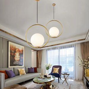 Image 3 - Nordic bola de vidro pingente luz moderna redonda global pendurado luz/luminária pingente decorativo