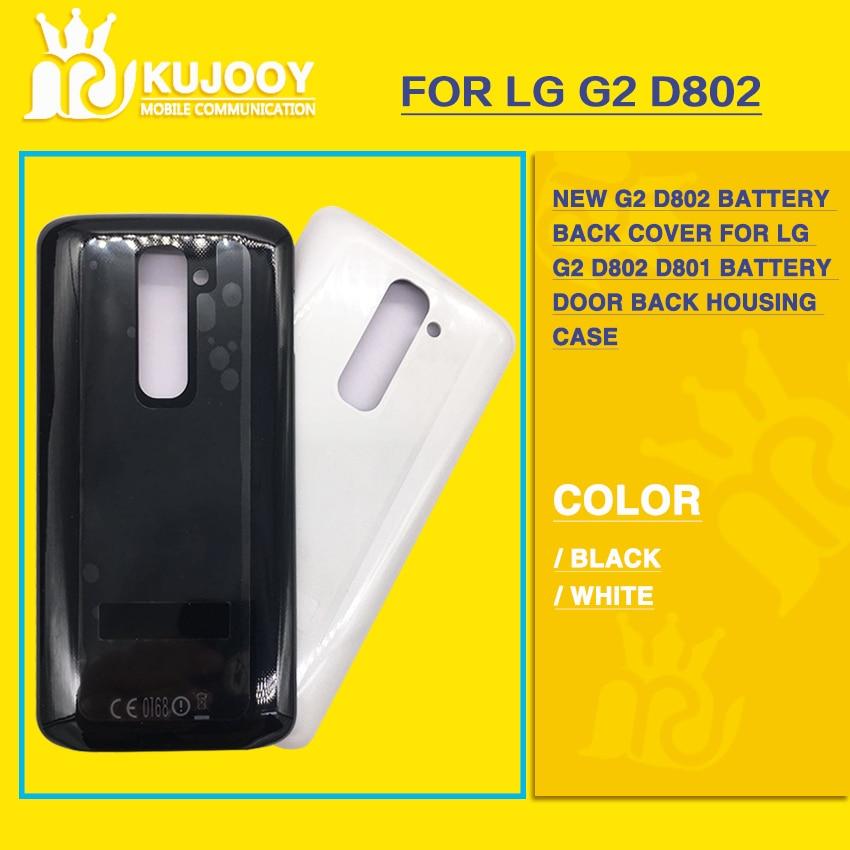 Новый G2 <font><b>D802</b></font> Батарея задняя крышка для LG G2 <font><b>D802</b></font> D801 Батарея задняя дверь Корпус случае