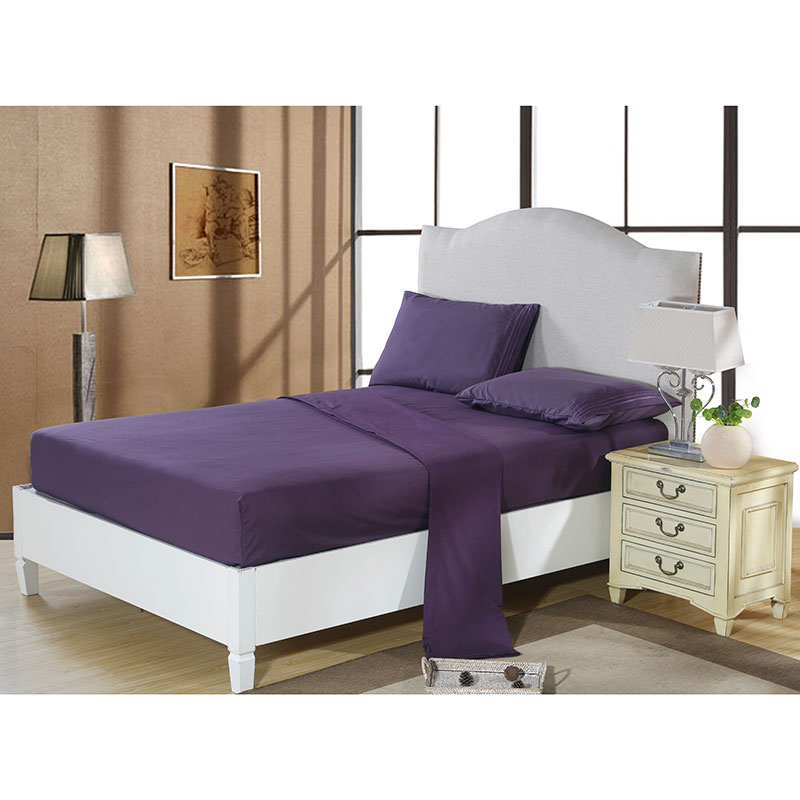 Quality brief solid bed sheet set full king queentwin - King size bed sheet set ...
