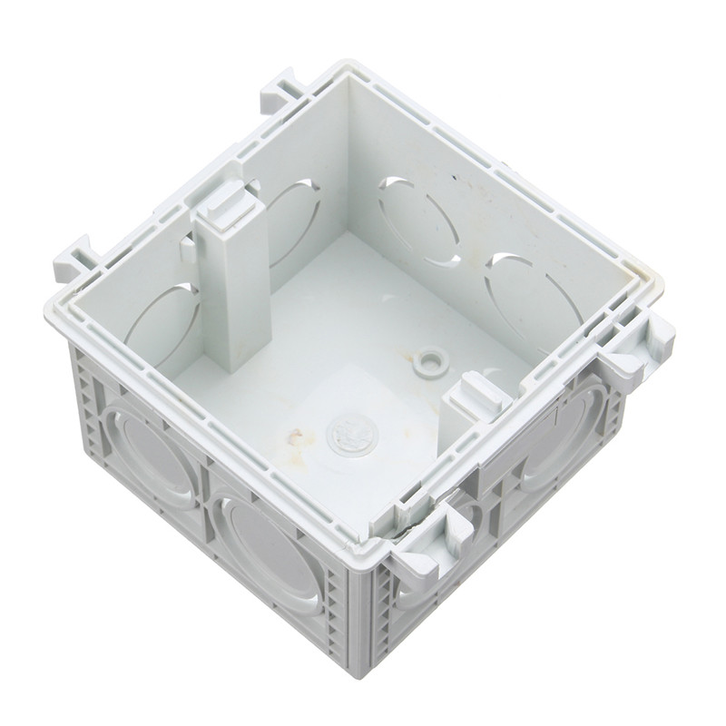 86*86MM Cassette Universal White Wall Mounting Box for Wall Switch and Socket Back Box Good Price uxcell 10pcs 86mm x 86mm x 40mm white pvc single gang wiring mount back box for wall socket