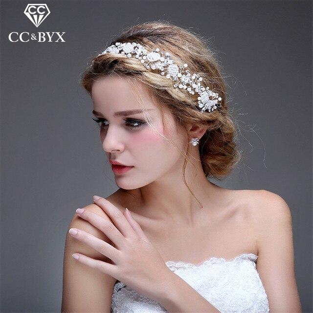 cc jewelry wedding headband crystal bridal crown for women wedding hair accessories bride handmade party festival
