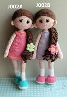 handmade crochet girls baby toy crochet doll rattles