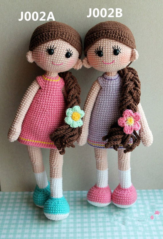 Doll, Girls, Crochet, Toy, Handmade, Rattles