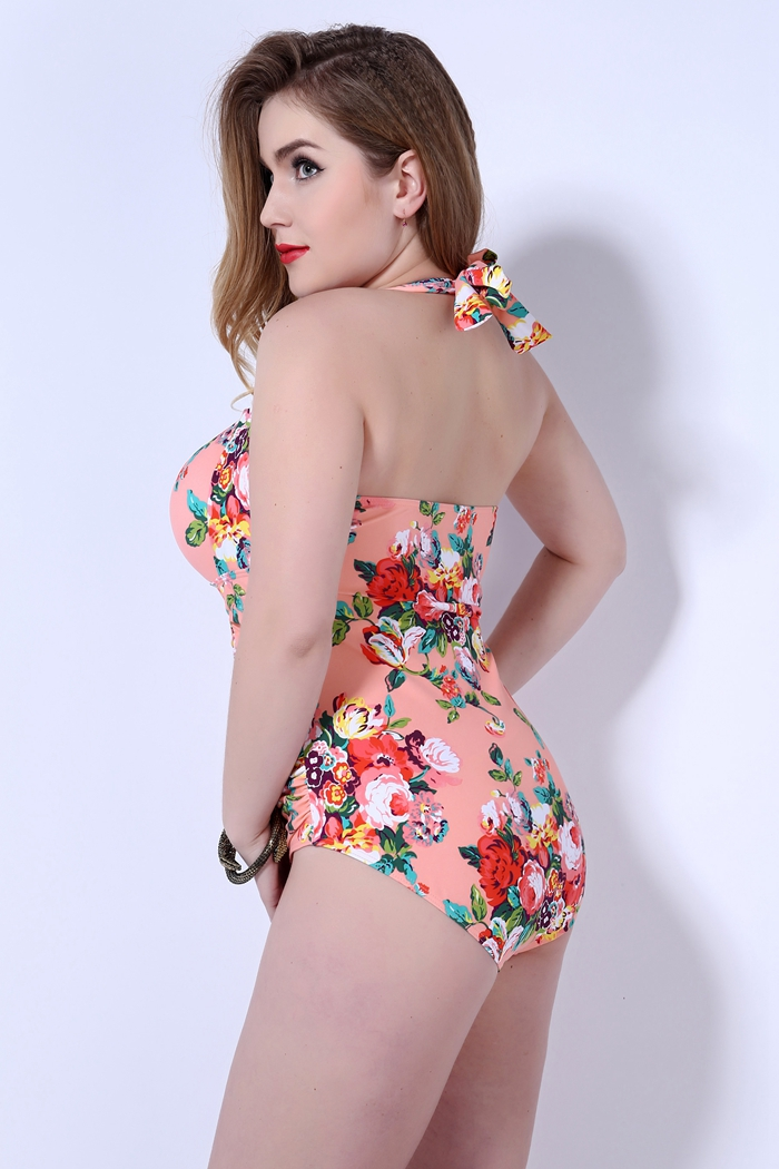 hot New push up one piece swimsuit women plus size swimwear Russian swimming suit large big size beachwear 16